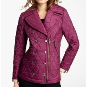 burberry brit quilted double breasted  jacket S